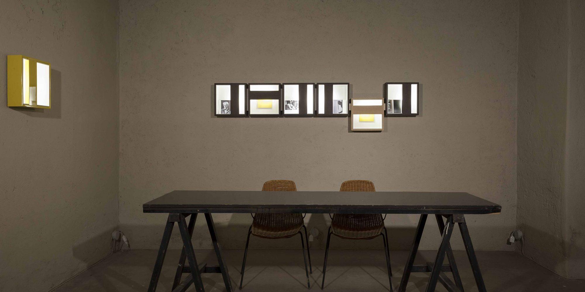 mostra NoName Quadri di Luce Limited edition design Giuseppe e Lazzaro Raboni, Marco Zanuso jr.
