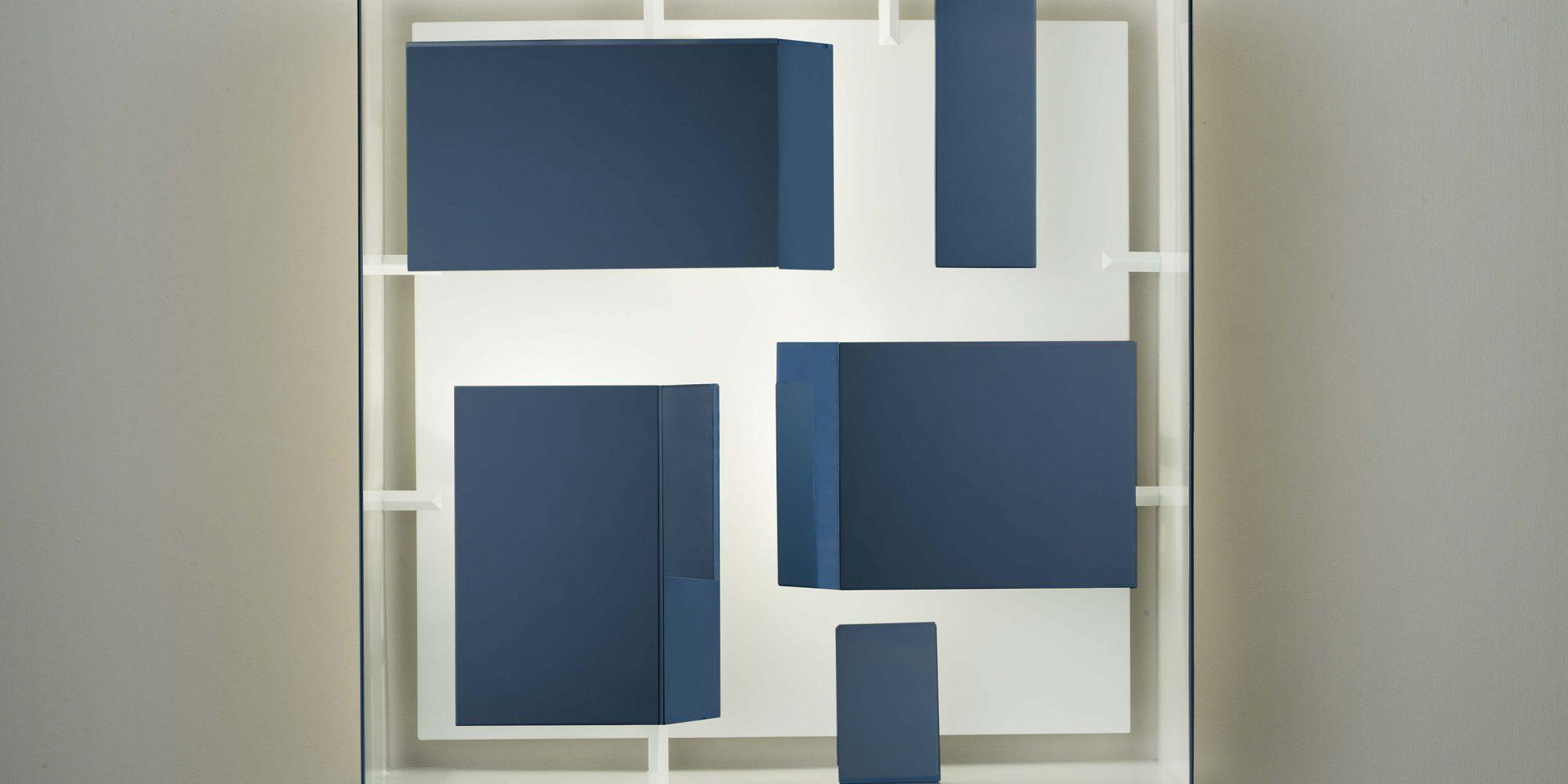 Gio Ponti Quadro di Luce quadrato blu Limited Edition 2012-2017