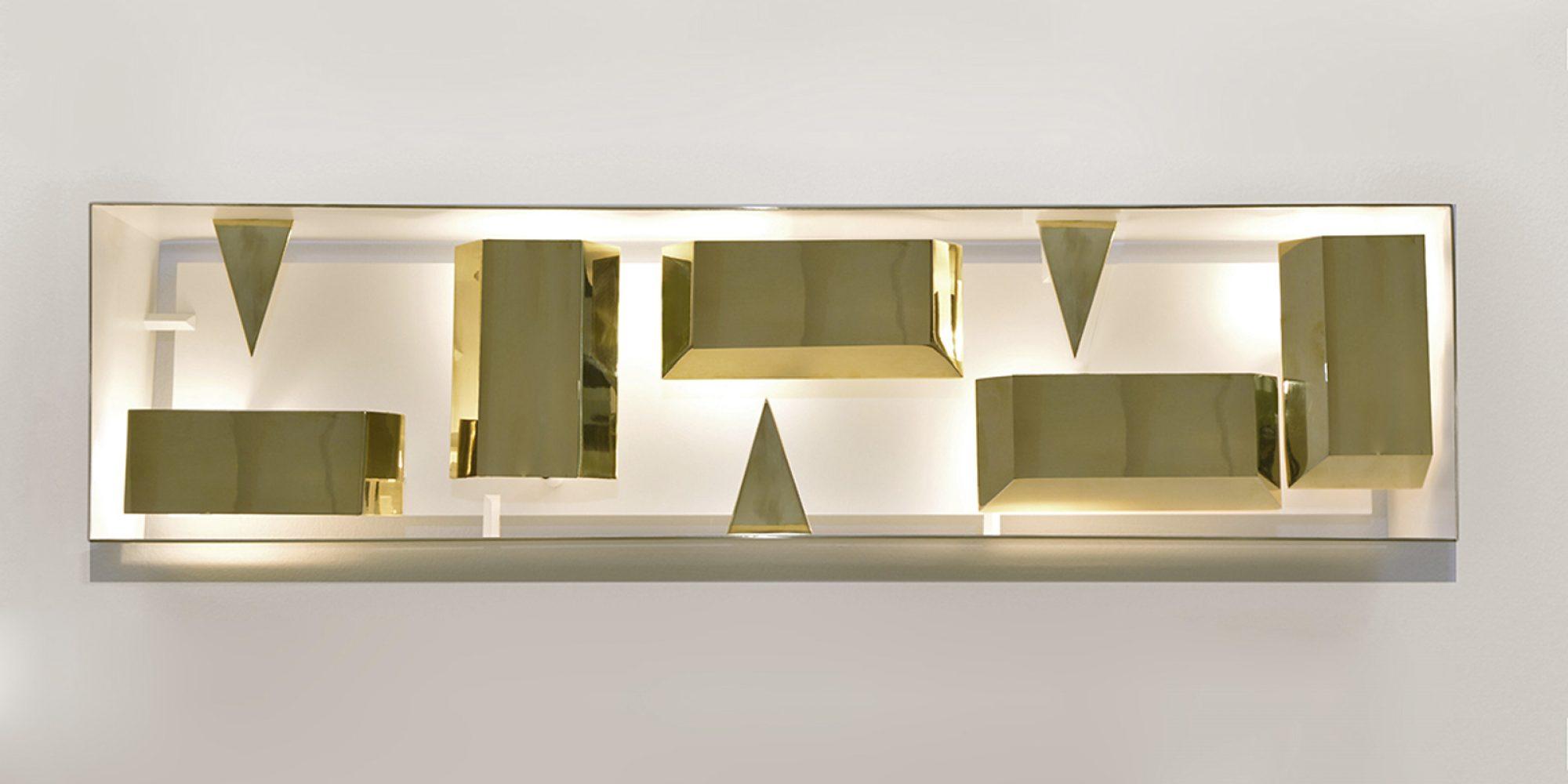 Gio Ponti Quadro di Luce rettangolare ottone lucido Limited Edition 2012-2017