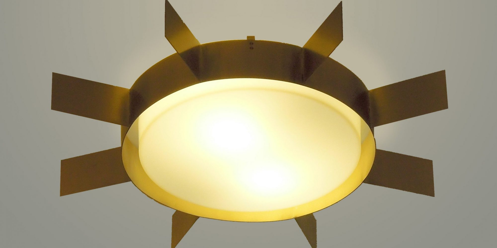 Gio Ponti Quadro di Luce quadrato ottone lucido Limited Edition 2012-2017