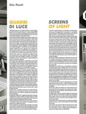 Pubblicità Gio Ponti su Luce n.303